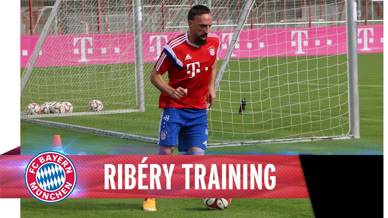 Training with Ribéry