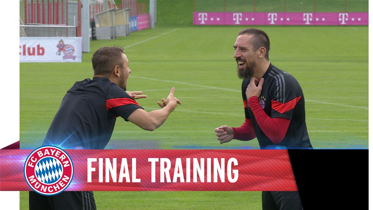 Final training AS Roma vs. FC Bayern