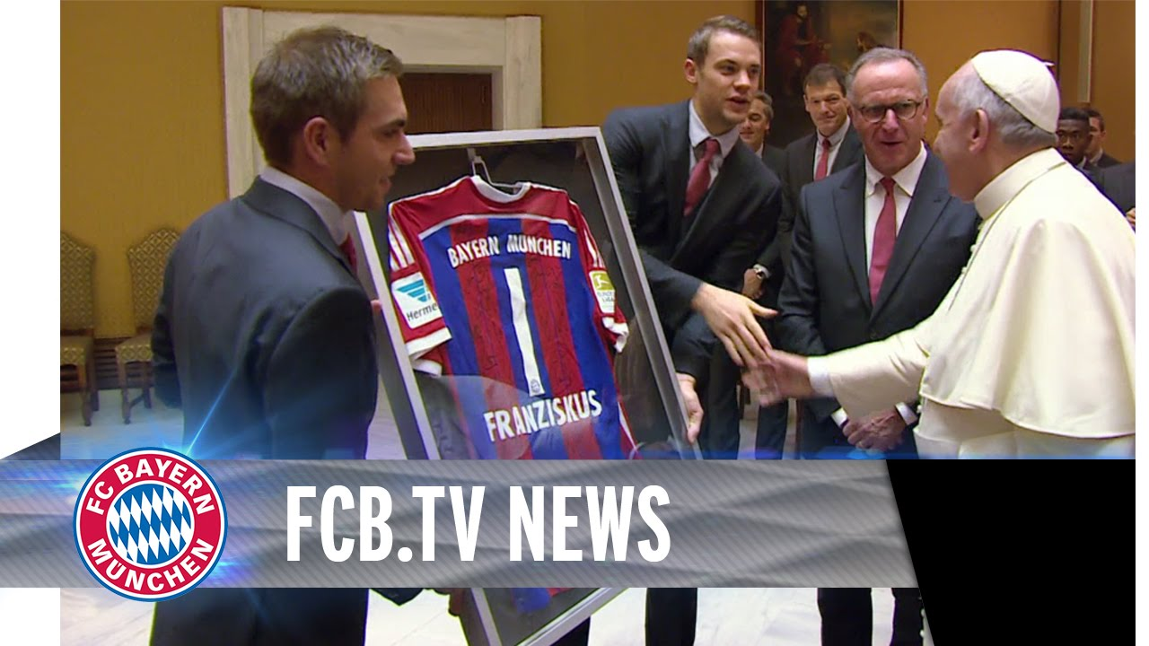 Der FC Bayern zu Besuch bei Papst Franziskus