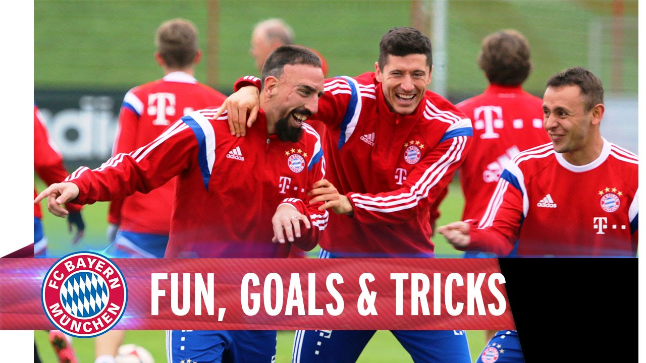 Fun, Goals & Tricks at FC Bayern Training
