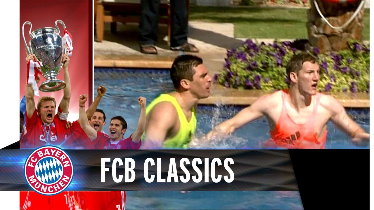 FC Bayern water polo with Luca Toni, Ribéry & Co.