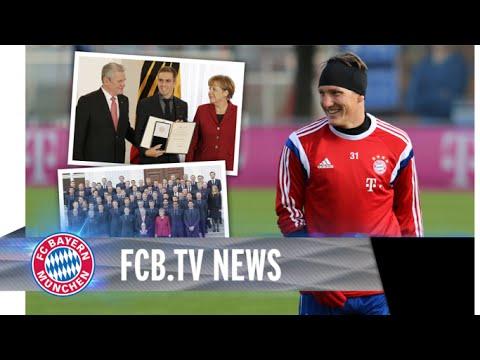 Schweinsteiger im Teamtraining - Silbernes Lorbeerblatt für Weltmeister