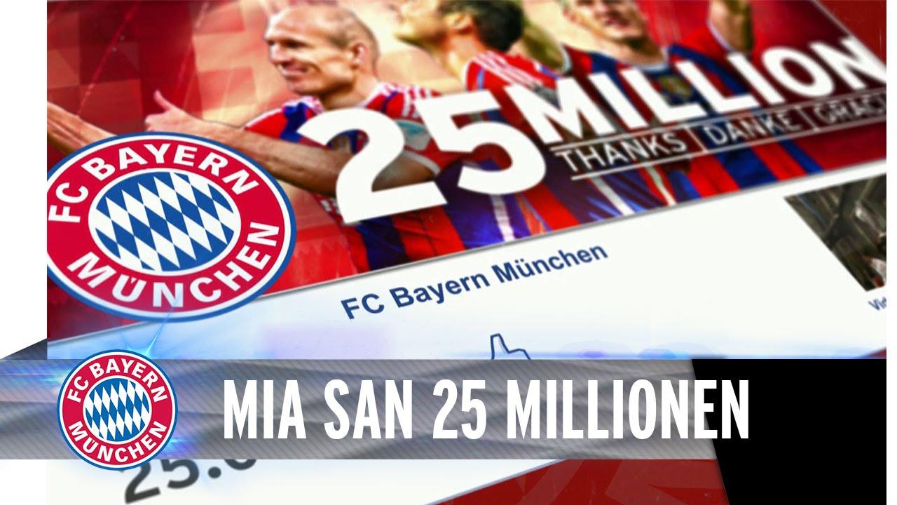 25 Millionen Likes auf Facebook - Danke, Bayern-Fans!