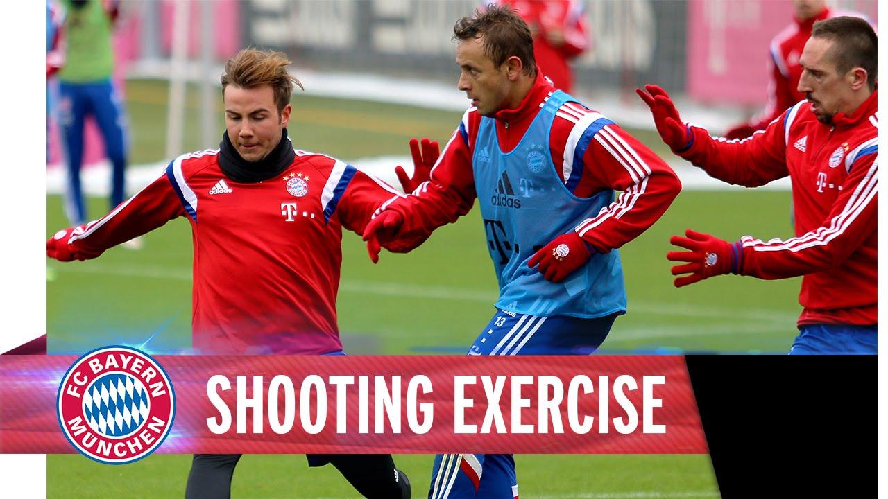 Amazing Goals I Shooting exercise @ training