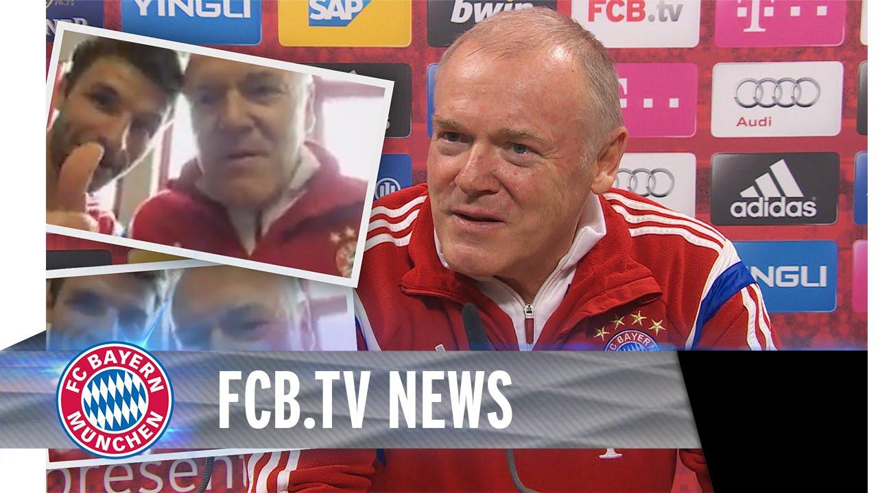 FC Bayern vor Bochum, Müller interviewt Gerland
