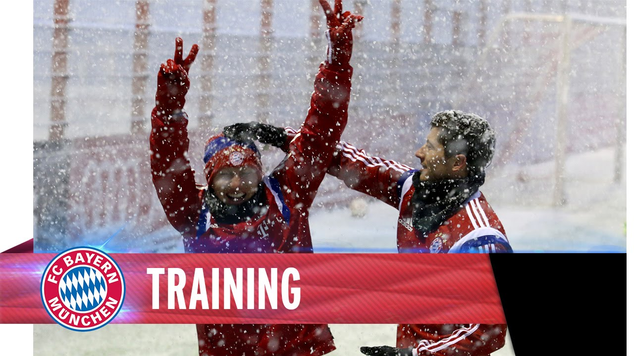 FC Bayern Snow Training